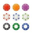 poker chips set vector image vector image