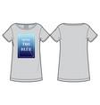 printed womens t-shirt vector image