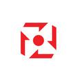 propeller square geometric logo vector image vector image