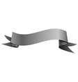 Realistic shiny grey ribbon isolated on white vector image vector image