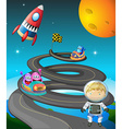 Road and monsters vector image vector image