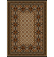 Rug with original pattern with brown shades vector image vector image
