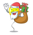 santa with gift yellow balloon isolated on for vector image