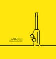 Screwdriver with gears bolt vector image
