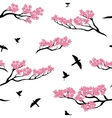 Seamless pattern sakura tree