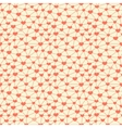 Seamless pattern with hearts linked together vector image vector image