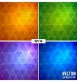 set 4 mosaic background vector image vector image