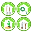 set of gardening concept icons vector image