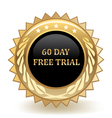 Sixty Day Free Trial vector image