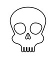 skull head isolated icon vector image vector image