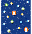 Social network connection diagram vector image