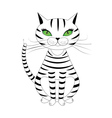 Striped cat vector image vector image