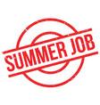 summer job rubber stamp