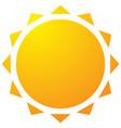 sun with corona icon simple geometric clip art vector image vector image