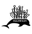 Tech aquarium dolphin vector image vector image