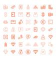 treasure icons vector image vector image