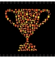 Trophies and awards icons in the form of prize cup vector image vector image