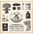 Vintage cereal set vector image