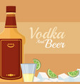 vodka and beer vector image vector image