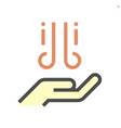 wash hands and dryer icon design 64x64 pixel vector image