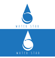 water drop with star design template vector image