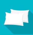 white pillow cushion vector image