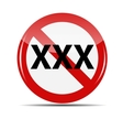 XXX Sign isolated on white background vector image