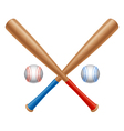 Baseball items vector image