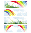summer natural banners vector image