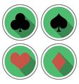 suit playing cards flat style vector image