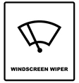 Car icon wiper vector image