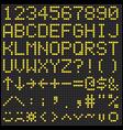 Digital Scoreboard Alphabet and Numbers vector image