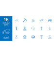 15 build icons vector image vector image