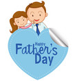 a father day icon vector image