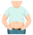 Abdomen fat overweight man with a big belly vector image