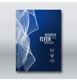 Abstract brochure flyer book cover design vector image
