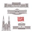 architecture landmarks usa vector image