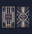 art deco banners 1920s party invitation flyer vector image vector image