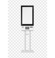 atm and self-ordering kiosk blank terminal vector image