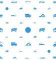 automobile icons pattern seamless white background vector image vector image