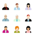 Avatar icons set flat style vector image vector image