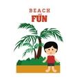 Beach design vector image vector image