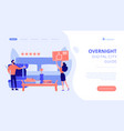bed and breakfast concept landing page vector image vector image
