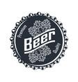 beer badge full monochrome vector image vector image