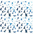 birds with mosaic tile pattern vector image vector image