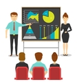 Business People At Presentation Design vector image vector image