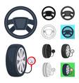 car lift pump and other equipment cartoonblack vector image