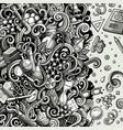 cartoon cute doodles hand drawn science frame vector image