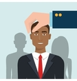 choose find person man vector image