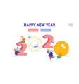 christmas and happy new year greeting card with vector image vector image
